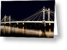 The Albert Bridge London Greeting Card