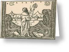 The Astrologer Albumasar Greeting Card