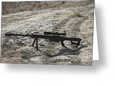 The Barrett M82a1 Sniper Rifle Greeting Card