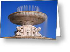 The Belle Isle Scott Fountain Greeting Card
