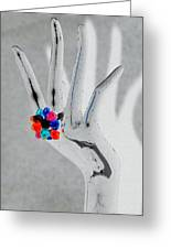The Black Hand In Negative Greeting Card