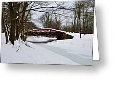 The Delaware Canal At Washington's Crossing Greeting Card by Bill Cannon