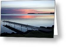 The Dock At Traders Bay Lodge On Leech Greeting Card