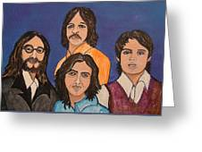 The Fab Four Beatles  Greeting Card