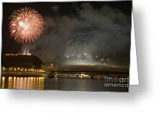 The Firework Greeting Card by Odon Czintos