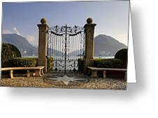 The Gateway To Lago Di Lugano Greeting Card