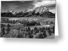 The Grand Tetons And The Snake River Greeting Card