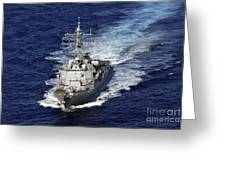 The Guided Missile Destroyer Uss Nitze Greeting Card