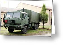 The Iveco M250 8 Ton Truck Used Greeting Card