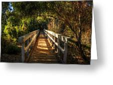 The Little White Bridge II  Greeting Card