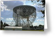 The Lovell Telescope At Jodrell Bank Greeting Card