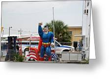 The Man Of Steel On I 95 Greeting Card