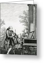 The Mozart Family On Tour, 1763 Greeting Card