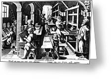 The Printing Of Books Greeting Card