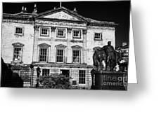 The Royal Bank Of Scotland Edinburgh Scotland Uk United Kingdom Greeting Card