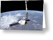 The Spacex Dragon Cargo Craft Greeting Card