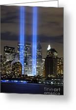 The Tribute In Light Memorial Greeting Card