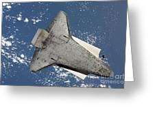 The Underside Of Space Shuttle Greeting Card