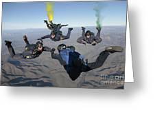 The U.s. Navy Parachute Demonstration Greeting Card