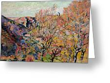 The Valley Of The Sedelle In Crozant Greeting Card