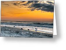 The Wintery Feeling Beach At Sunrise Greeting Card