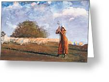 The Young Shepherdess Greeting Card