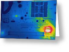 Thermogram Of A Computer Board Greeting Card