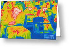 Thermogram Of Students In A Lecture Greeting Card