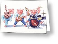 Thin Piggy Greeting Card