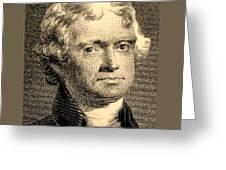 Thomas Jefferson In Sepia Greeting Card
