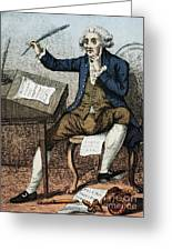 Thomas Paine, American Founding Father Greeting Card by Photo Researchers