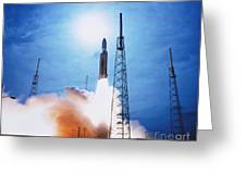 Titan Iv Rocket Greeting Card