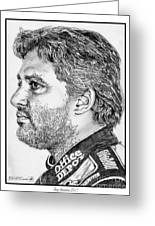 Tony Stewart In 2011 Greeting Card by J McCombie