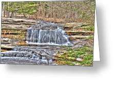 Top Of The Upper Falls Greeting Card