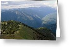 Top Of The World View Greeting Card