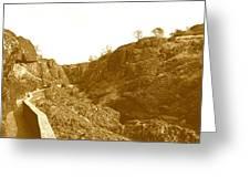 Trail To Bear Hole Greeting Card