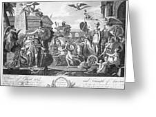 Treaty Of Ghent, 1814 Greeting Card