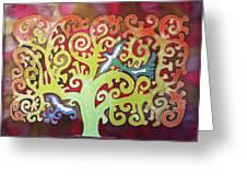 Kazaksha Tree Of Life Greeting Card
