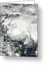 Tropical Storm Ida In The Caribbean Sea Greeting Card