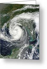 Tropical Storm Isaac Moving Greeting Card