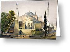 Turkey: Hagia Sophia, 1852 Greeting Card by Granger