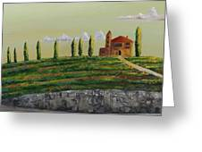 Tuscan Guest House Greeting Card