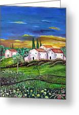 Tuscany Greeting Card by Kostas Dendrinos
