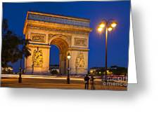 Twilight At Arc De Triomphe Greeting Card