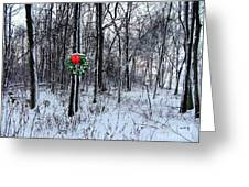 Tyra's Woods At Christmas Greeting Card