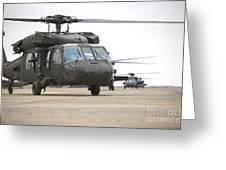 Uh-60 Black Hawks Taxis Greeting Card