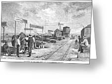 Underground Village, 1874 Greeting Card