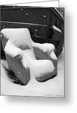 Unwanted Chair Black And White Greeting Card