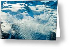 Upper Level Of Fox Glacier In New Zealand Greeting Card