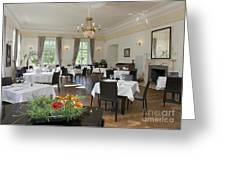 Upscale Hotel Dining Room Greeting Card by Jaak Nilson